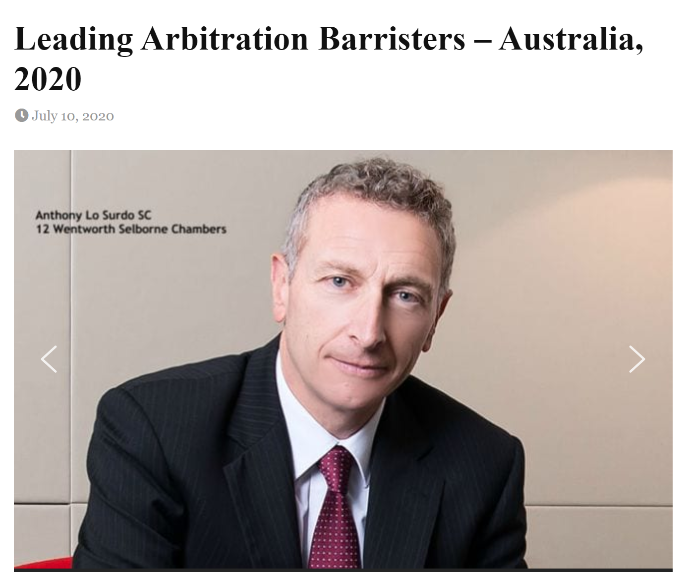 Doyles Guide To Leading Australian Arbitration Barristers